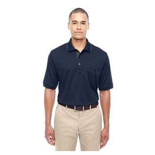 Ash City - Core 365 Mens Motive Performance Pique Polo with Tipped Collar