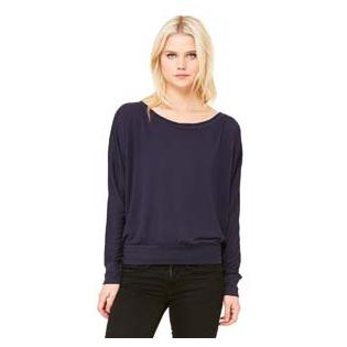 Bella + Canvas Ladies Flowy Long Sleeve Off Shoulder T-Shirt