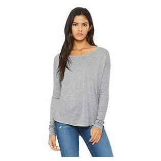 Bella + Canvas Ladies Flowy Long Sleeve T-Shirt with 2x1 Sleeves