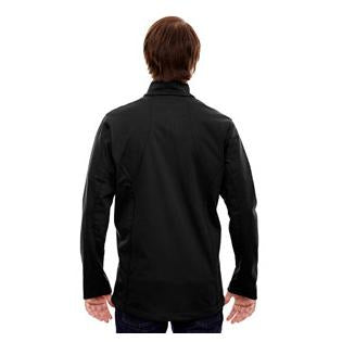 Ash City - North End Sport Red Mens Splice Three Layer Light Bonded Soft Shell Jacket with Laser Welding