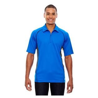 Ash City - North End Sport Red Mens Serac UTK Cool.Logik Performance Zippered Polo