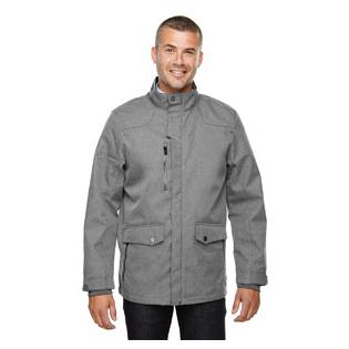 Ash City - North End Sport Blue Mens Uptown Three Layer Light Bonded City Textured Soft Shell Jacket