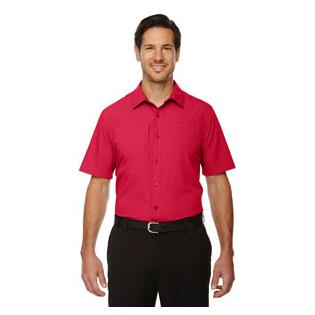 Ash City - North End Sport Red Mens Charge Recycled Polyester Performance Short Sleeve Shirt