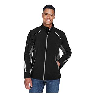 Ash City - North End Sport Red Mens Pursuit Three Layer Light Bonded Hybrid Soft Shell Jacket with Laser Perforation