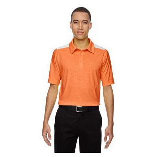Ash City - North End Sport Red Mens Reflex UTK Cool.Logik Performance Embossed Print Polo