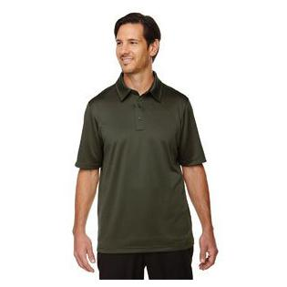 Ash City - North End Sport Red Mens Exhilarate Coffee Charcoal Performance Polo with Back Pocket