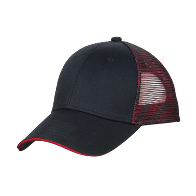 Port Authority Double Mesh Snapback Sandwich Bill Cap