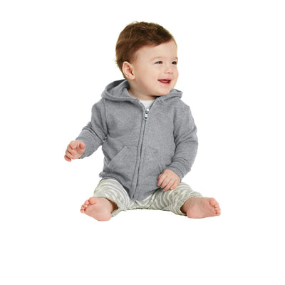 Port & Company Infant Core Fleece Full Zip Hooded Sweatshirt