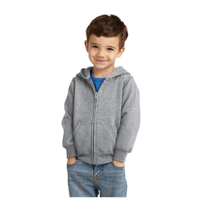 Port & Company Toddler Core Fleece Full Zip Hooded Sweatshirt