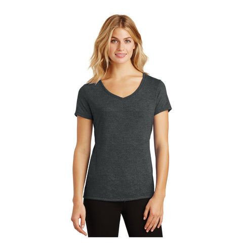 District Ladies Perfect Tri V Neck T-Shirt