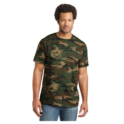 District Mens Camo Perfect Weight Crew Tee