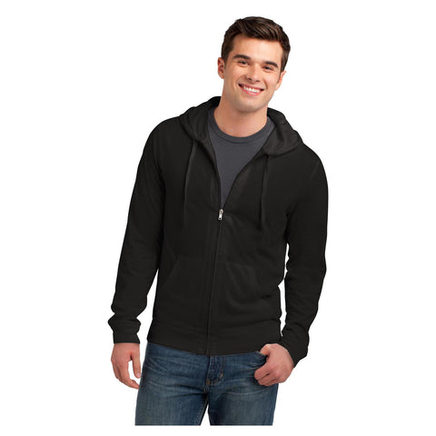 District Young Mens Jersey Full Zip Hoodie