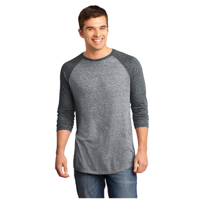 District Young Mens Microburn 3/4 Sleeve Raglan Tee