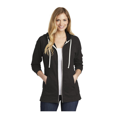 District Womens Perfect Tri French Terry Full Zip Hoodie