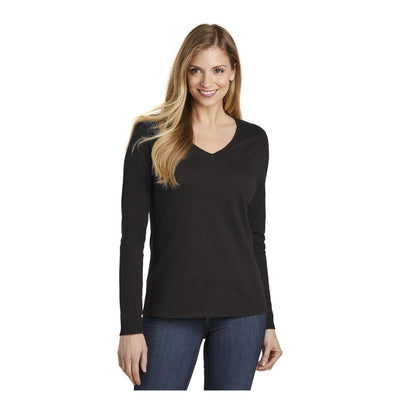District Womens Very Important Tee Long Sleeve V Neck