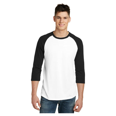 District Young Mens Very Important Tee 3/4 Sleeve Raglan