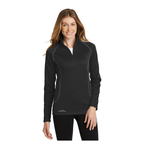 Eddie Bauer Ladies 1/2 Zip Base Layer Fleece