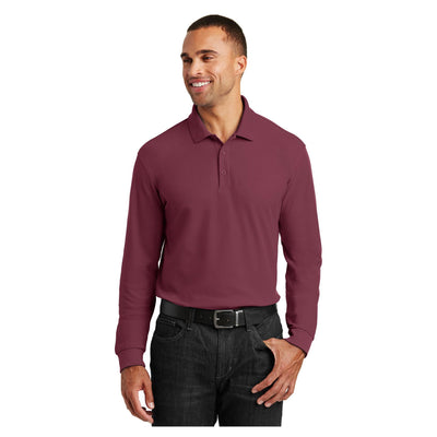 Port Authority Long Sleeve Core Classic Pique Polo