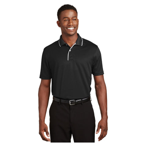 Sport-Tek Dri Mesh Polo with Tipped Collar and Piping