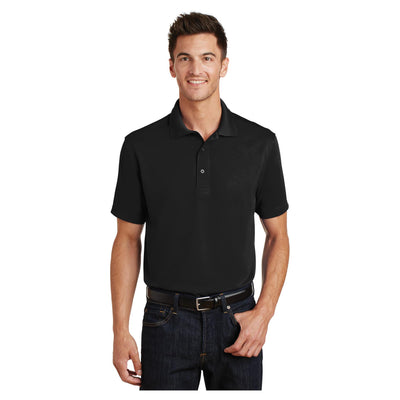 Port Authority Poly Charcoal Blend Pique Polo
