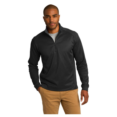 Port Authority Vertical Texture 1/4 Zip Pullover