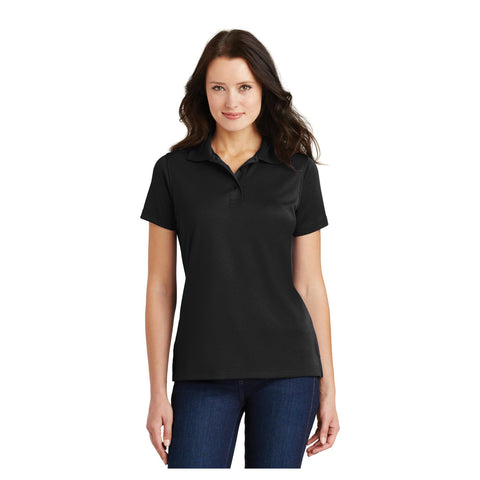 Port Authority Ladies Poly Charcoal Blend Pique Polo