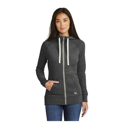New Era Ladies Sueded Cotton Full Zip Hoodie