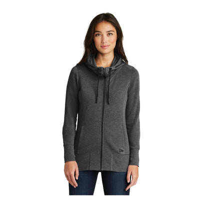 New Era Ladies Tri Blend Fleece Full Zip Hoodie