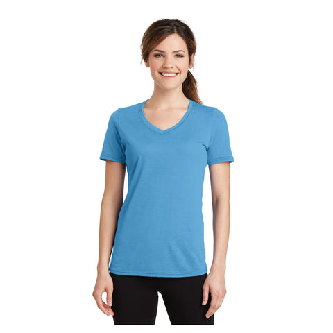 Port & Company Ladies Performance Blend V Neck Tee
