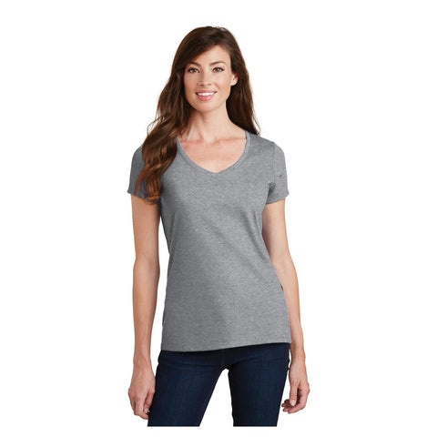 Port & Company Ladies Fan Favorite V Neck Tee