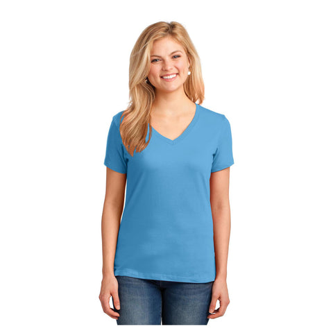 Port & Company Ladies Core Cotton V Neck T-Shirt