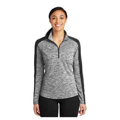 Sport-Tek Ladies PosiCharge Electric Heather Colorblock 1/4 Zip Pullover