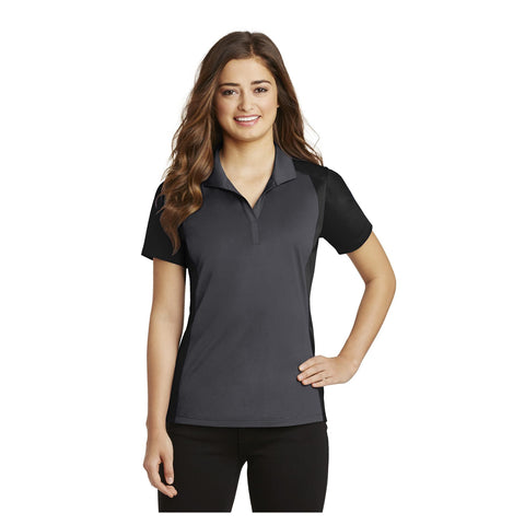 Sport-Tek Ladies Colorblock Micropique Sport Wick Polo