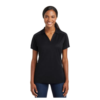 Sport-Tek Ladies Micropique Sport Wick Piped Polo