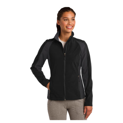 Sport-Tek Ladies Colorblock Soft Shell Jacket