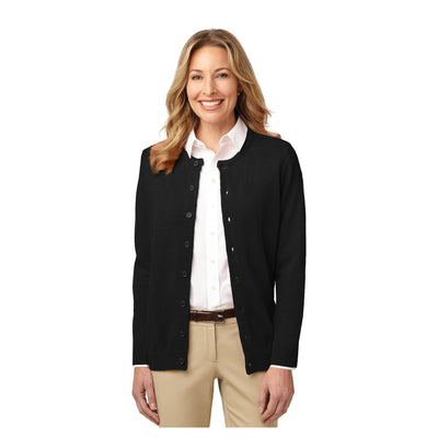 Port Authority Ladies Value Jewel Neck Cardigan Sweater