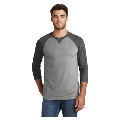 New Era Sueded Cotton 3/4 Sleeve Baseball Raglan Tee
