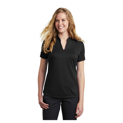 Nike Ladies Dri FIT Hex Textured V Neck Top