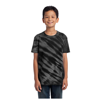 Port & Company Youth Tiger Stripe Tie Dye Tee