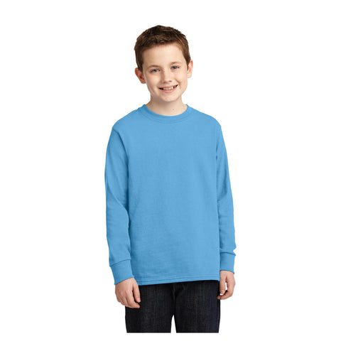 Port & Company Youth Long Sleeve Core Cotton Tee