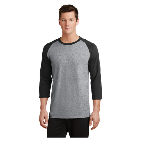 Port & Company Core Blend 3/4 Sleeve Raglan Tee