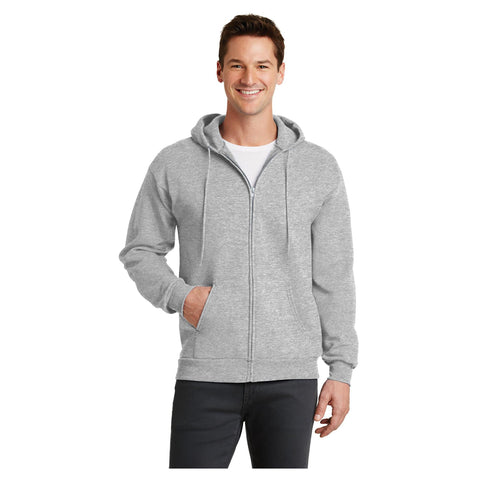 Port & Company Core Fleece Full Zip Hooded Sweatshirt