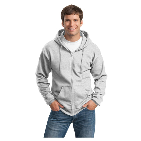 Port & Company Essential Fleece Full Zip Hooded Sweatshirt