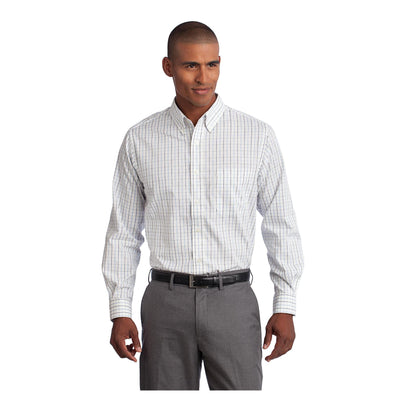 Port Authority Tall Tattersall Easy Care Shirt