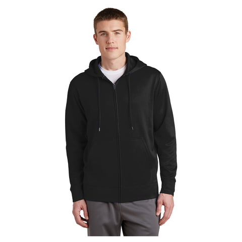 Sport-Tek Sport Wick Fleece Full Zip Hooded Jacket