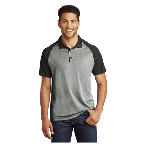 Sport-Tek PosiCharge RacerMesh Raglan Heather Block Polo