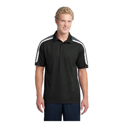 Sport-Tek Tricolor Shoulder Micropique Sport Wick Polo