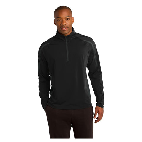 Sport-Tek Sport Wick Stretch 1/2 Zip Colorblock Pullover