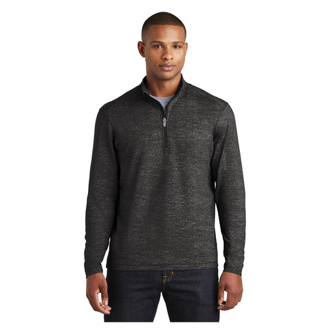 Sport-Tek Sport Wick Stretch Reflective Heather 1/2 Zip Pullover