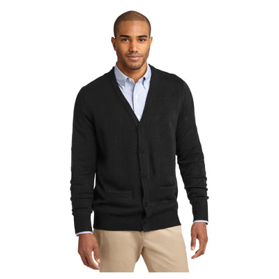 Port Authority Value V Neck Cardigan Sweater with Pockets